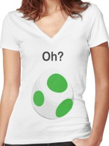 Pokemon Egg Women's Fitted V-Neck T-Shirt