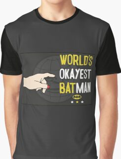 World's okayest batman funny cartoon cool retro funny shirts and clothing design Graphic T-Shirt