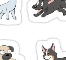 8 Happy Dog Stickers Sticker
