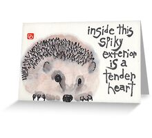 Tender Heart Hedgehog Greeting Card