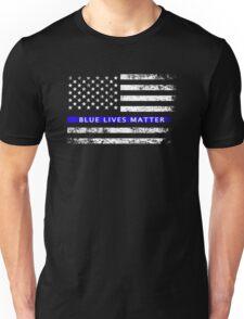 Blue Lives Matter - Thin Blue Line Flag Shirt Unisex T-Shirt