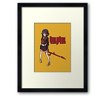 Ryuko Matoi - Low Poly - Kill La Kill Framed Print
