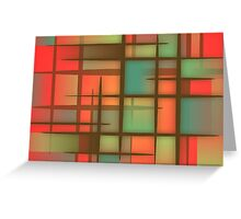Awesome Colorful Abstract pattern Greeting Card