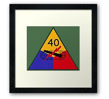 40th Armored Division (United States - Historical) Framed Print