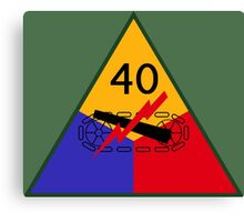 40th Armored Division (United States - Historical) Canvas Print