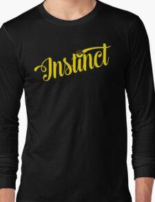 Team Instinct: Yellow Typography Long Sleeve T-Shirt