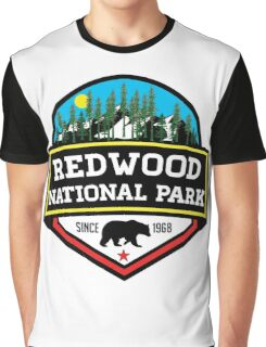 REDWOOD NATIONAL PARK CALIFORNIA REDWOODS MOUNTAINS HIKE HIKING CAMP CAMPING Graphic T-Shirt