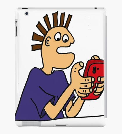 Cool Funny Gamer Playing  Mobile App Game iPad Case/Skin
