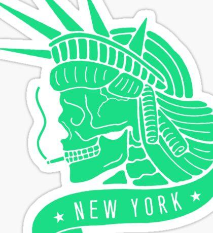 New York - Statue of Libery Skull (no background) Sticker