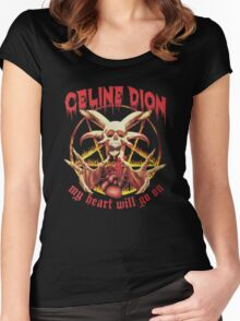Celine Dion - Death Metal  Women's Fitted Scoop T-Shirt