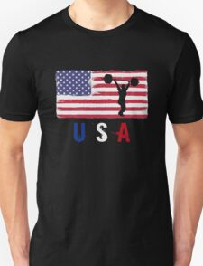 USA Weightlifting 2016 competition weightlifters funny t-shirt Unisex T-Shirt