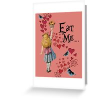 Alice in Wonderland,EAT ME Vintage Illustration Greeting Card