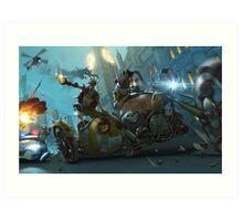 Motorbike London Hiest Art Print