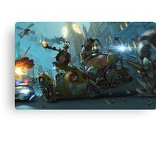 Motorbike London Hiest Canvas Print