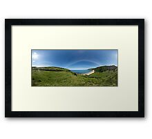 Kinnagoe Bay Panorama Framed Print
