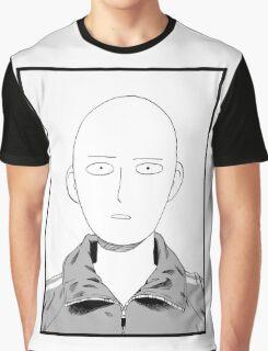 Manga one punch man face Graphic T-Shirt