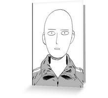 Manga one punch man face Greeting Card