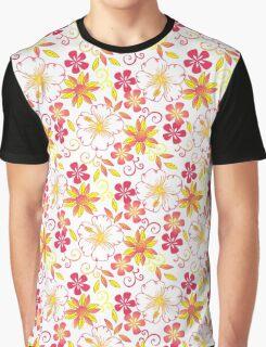 Wild Peach Flower Graphic T-Shirt
