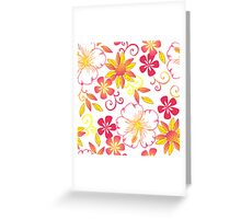 Wild Peach Flower Greeting Card