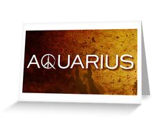 NBC Aquarius Logo Greeting Card