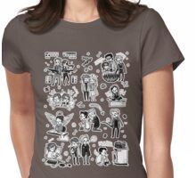 Supernatural Chibis 2 Womens Fitted T-Shirt