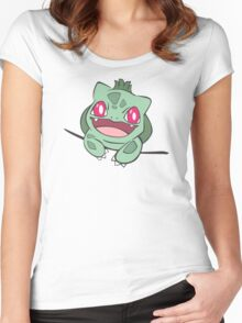 bulbasaur in pocket Women's Fitted Scoop T-Shirt