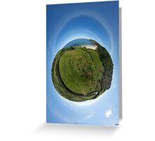 Kinnagoe Bay (as a floating green planet) Greeting Card