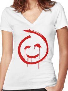 Red Mentalist John Women's Fitted V-Neck T-Shirt