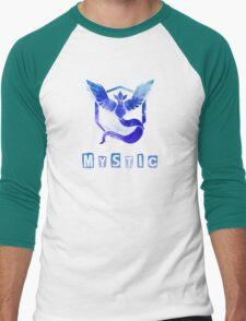 Pokemon GO: Team Mystic (Ice/Water Design) - Blue Team Men's Baseball ¾ T-Shirt