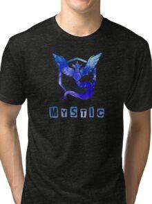 Pokemon GO: Team Mystic (Ice/Water Design) - Blue Team Tri-blend T-Shirt