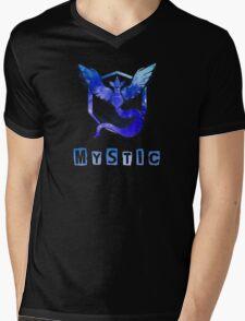Pokemon GO: Team Mystic (Ice/Water Design) - Blue Team Mens V-Neck T-Shirt