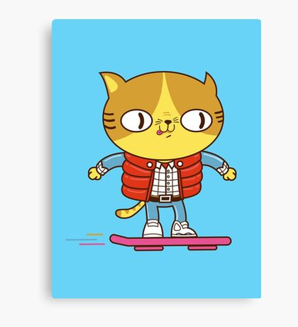 Meowrty CatFly Canvas Print