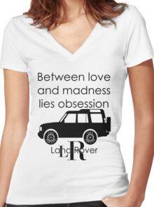 Calvin Klein & Land Rover (Parody) Women's Fitted V-Neck T-Shirt