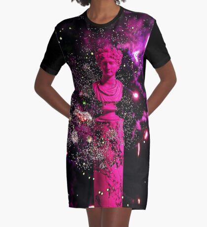 sculpture Graphic T-Shirt Dress