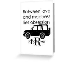 Calvin Klein & Land Rover (Parody) Greeting Card