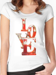 LOVE Happy Valentines day card Women's Fitted Scoop T-Shirt