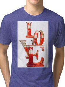LOVE Happy Valentines day card Tri-blend T-Shirt