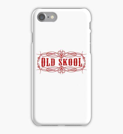 Old Skool Pinstripe Design in red iPhone Case/Skin