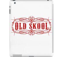 Old Skool Pinstripe Design in red iPad Case/Skin