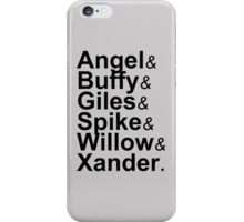 Angel Buffy The Scooby Gang iPhone Case/Skin