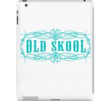 Old Skool Pinstripe Design in turquoise iPad Case/Skin