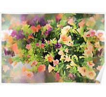 Summer Splash of Florals Poster
