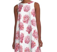 Perfect Pink Peony Collection A-Line Dress