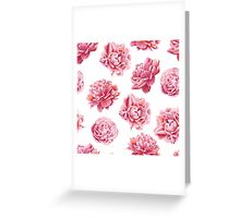 Perfect Pink Peony Collection Greeting Card