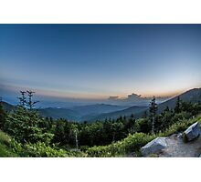 A Clingman's Dome Sunset Photographic Print