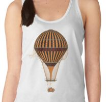 Elegant Steampunk Vintage Hot Air Balloon Women's Tank Top