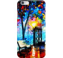tardis in the rain iPhone Case/Skin