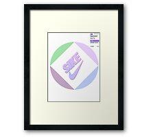 Sike Vaporwave Logo Framed Print