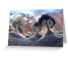 Broccoli Planet in Winter Greeting Card