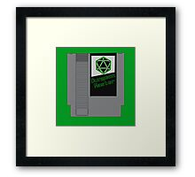 Dungeon Master NES Cartridge Mash Up Framed Print